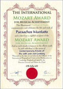 mozart award